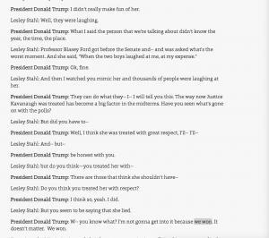 https://www.cbsnews.com/news/donald-trump-interview-60-minutes-full-transcript-lesley-stahl-jamal-khashoggi-james-mattis-brett-kavanaugh-vladimir-putin-2018-10-14/